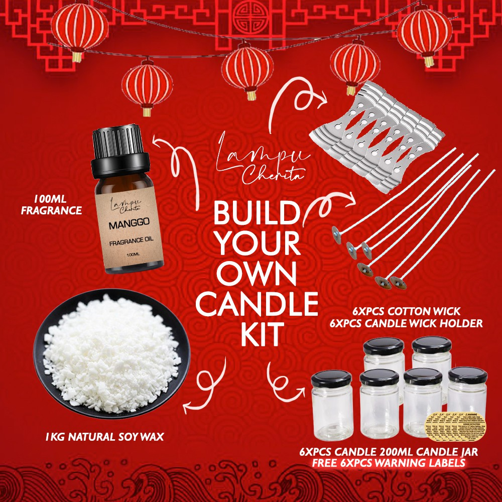 Lampu Cherita Candle Making Kit - Create Your Own DIY Soy Candles
