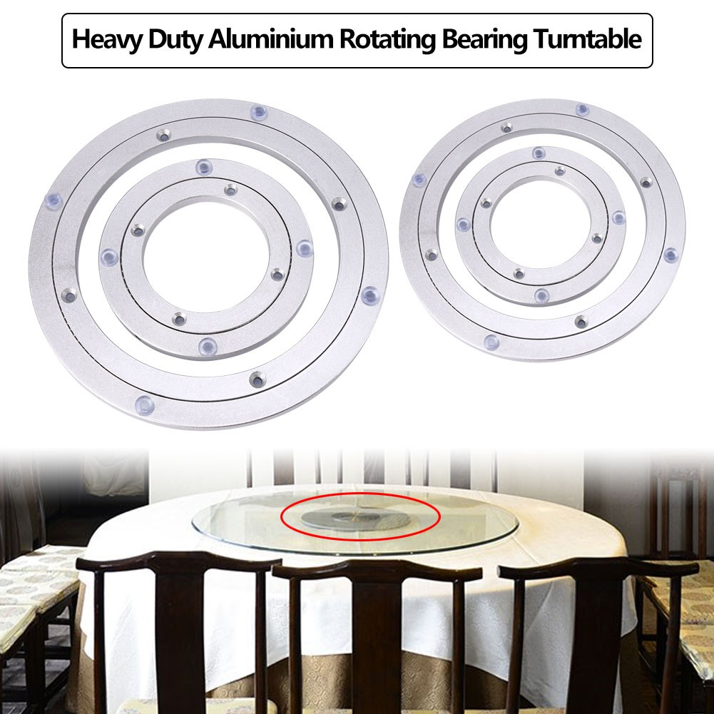 Desk Round Rotating Swivel Turntable Plate Lazy Susan Heavy Duty Metal Bearings
