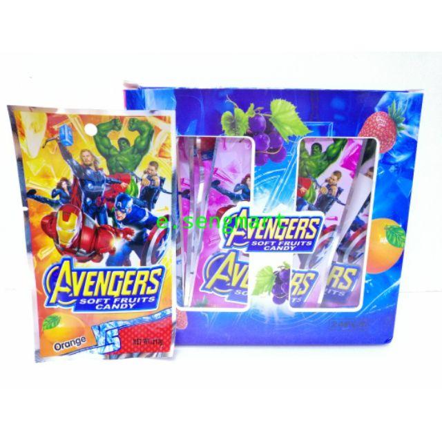 Avengers soft fruit candy 24pkt