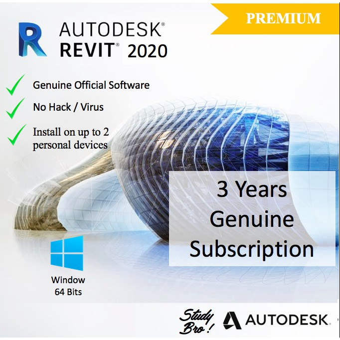 [Genuine] Autodesk Revit 2020 3 Years License [Windows 64-Bits] Edu License