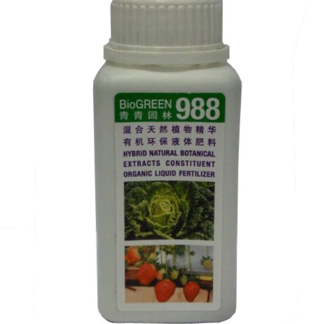 Bio Green 988 250ml(liquid organic fertilizer and organic pre-anti pest)