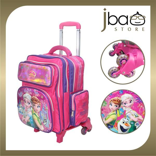 Univer Frozen 6 Wheels Trolley Primary School Bag / Backpack