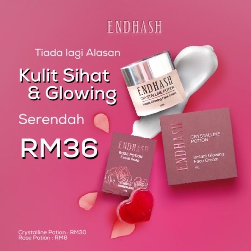 [Set Combo] Endhash Facial Cream & Rose Potion soap💯Original By Hq