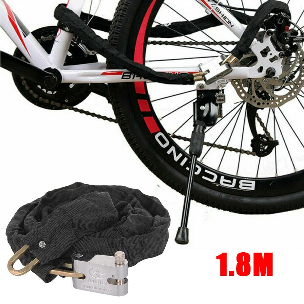 Heavy Duty Motorcycle Bike Bicycle Anti-Theft Security Metal Chain Lock Padlock