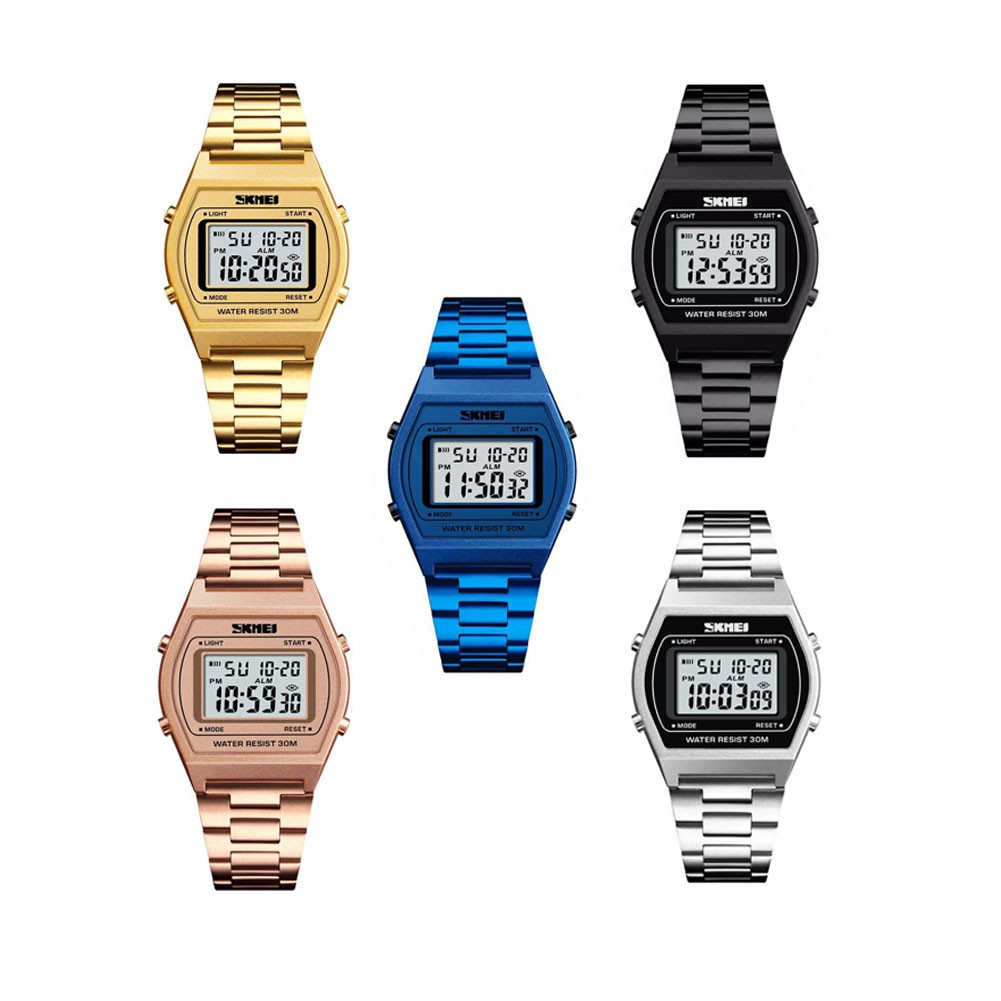 Skmei 1355 Watches Business Men Waterproof Casual Stainless Steel Jam Tangan Casio 1123 Original Digital Watch Shopee Malaysia