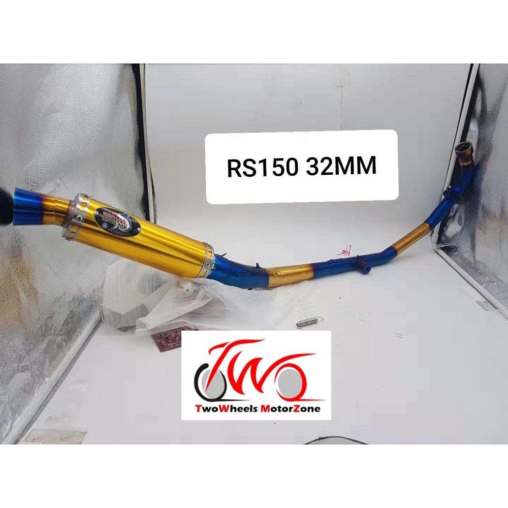 RS150 EXHAUST PIPE MUFFLER COBRA RACING ESPADA 32MM TITANIUM