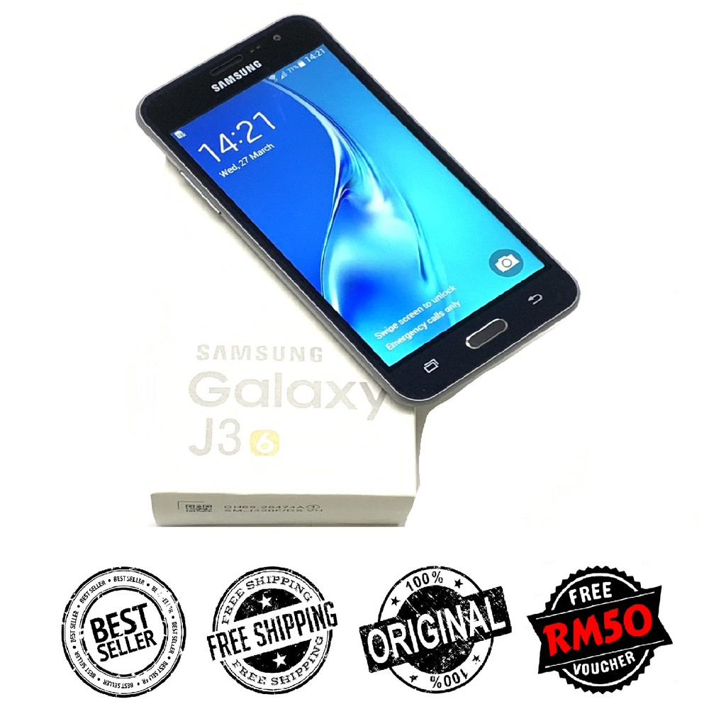 🇲🇾 Original Samsung J3 2016 J320 [8GB + 1GB RAM] FREE Tempered Glass [1 Month Warranty] Refurbished by Retrons