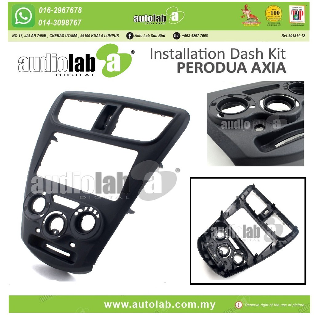 Player Casing Double Din (200mm) Axia 2014-2018
