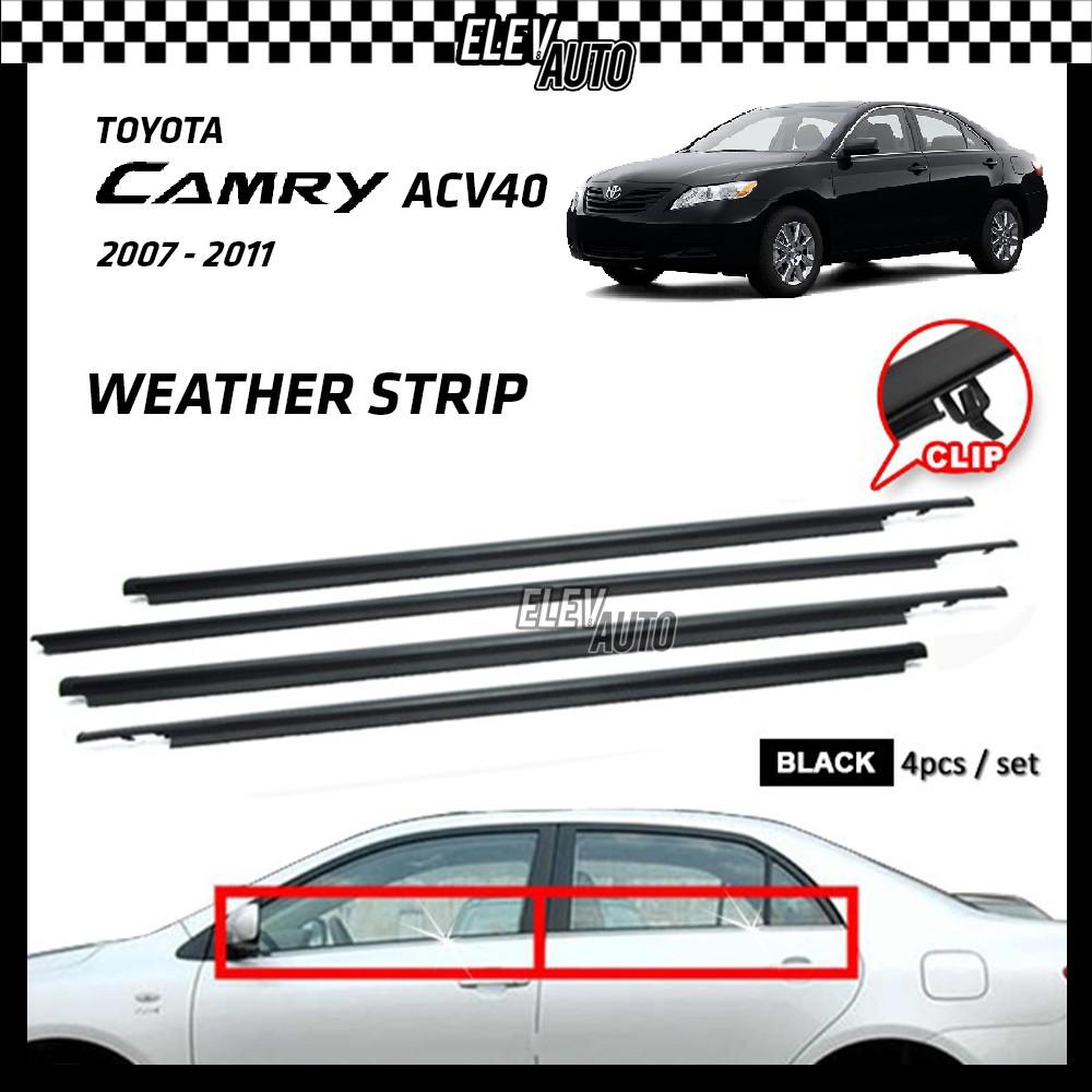 Toyota Camry ACV40 2007-2011 Weather Strip Weatherstrip Window Moulding Belt 4pcs
