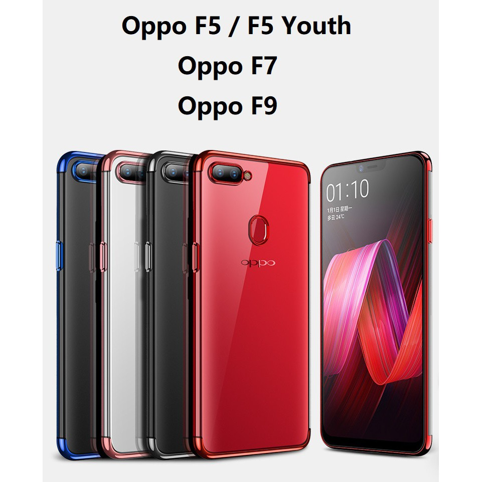 Oppo F9 F7 F5 Youth Oppof7 Oppof7 Oppo F9 Gold Plated Phone Case Casing Cover Shopee Malaysia