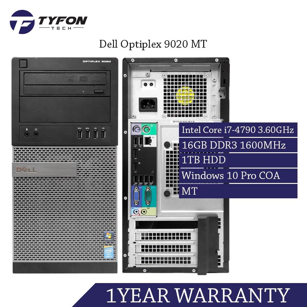 Dell Optiplex 9020 MT i7 16GB RAM 1TB HDD Desktop PC Computer (Refurbished)