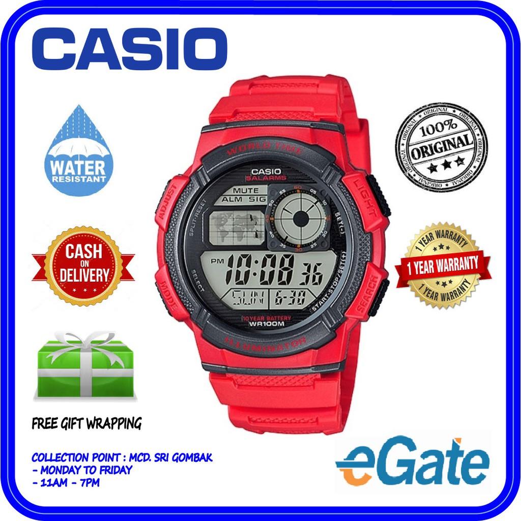 7a9baa4971f3 CASIO AE-1000W-1AV   AE-1000W-1A  AE-1000W WORLD TIME WATCH 100% ORIGINAL