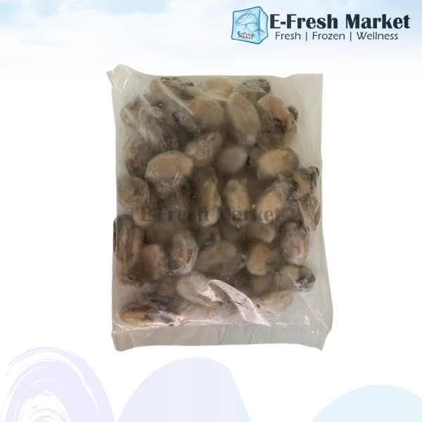 Frozen Korean Oyster Meat L Size without Shell, 1kg (Penang Only)