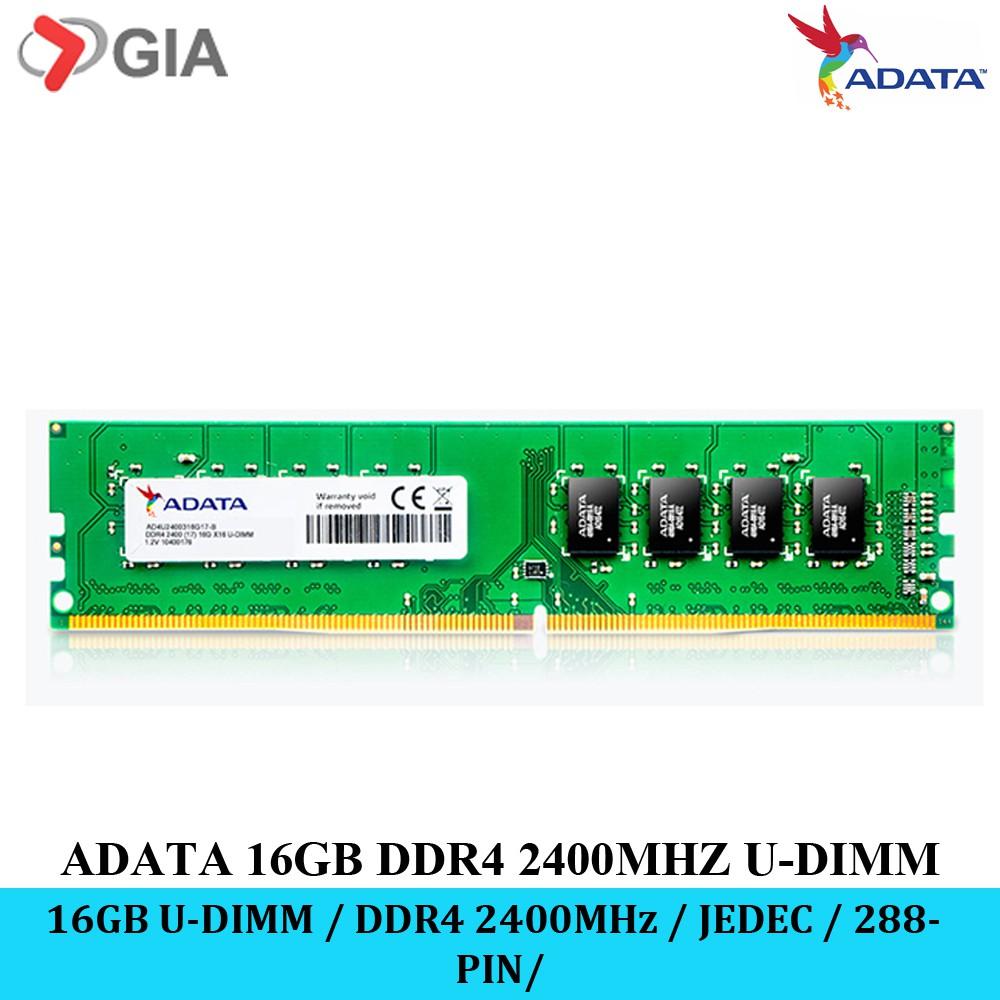 ADATA 16GB / 8GB / 4GB Desktop RAM (2400MHz/U-DIMM/288-PIN/JEDEC/1 2V)