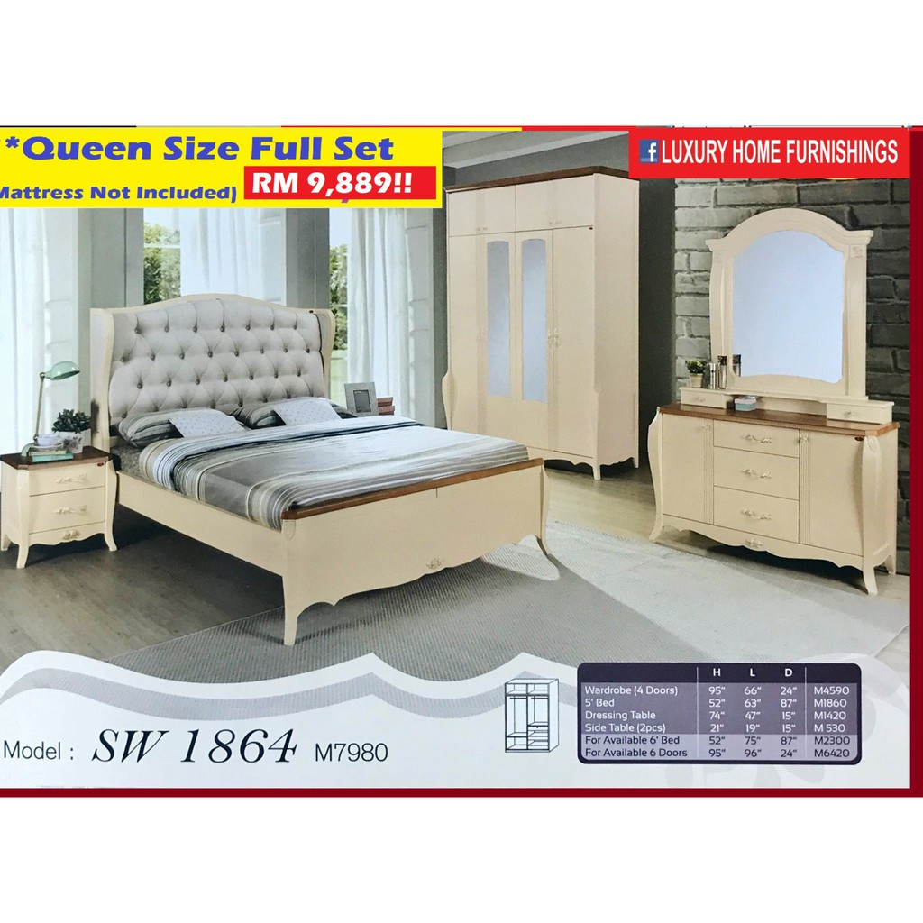 Bed Room set, Open Doors, Luxury Series