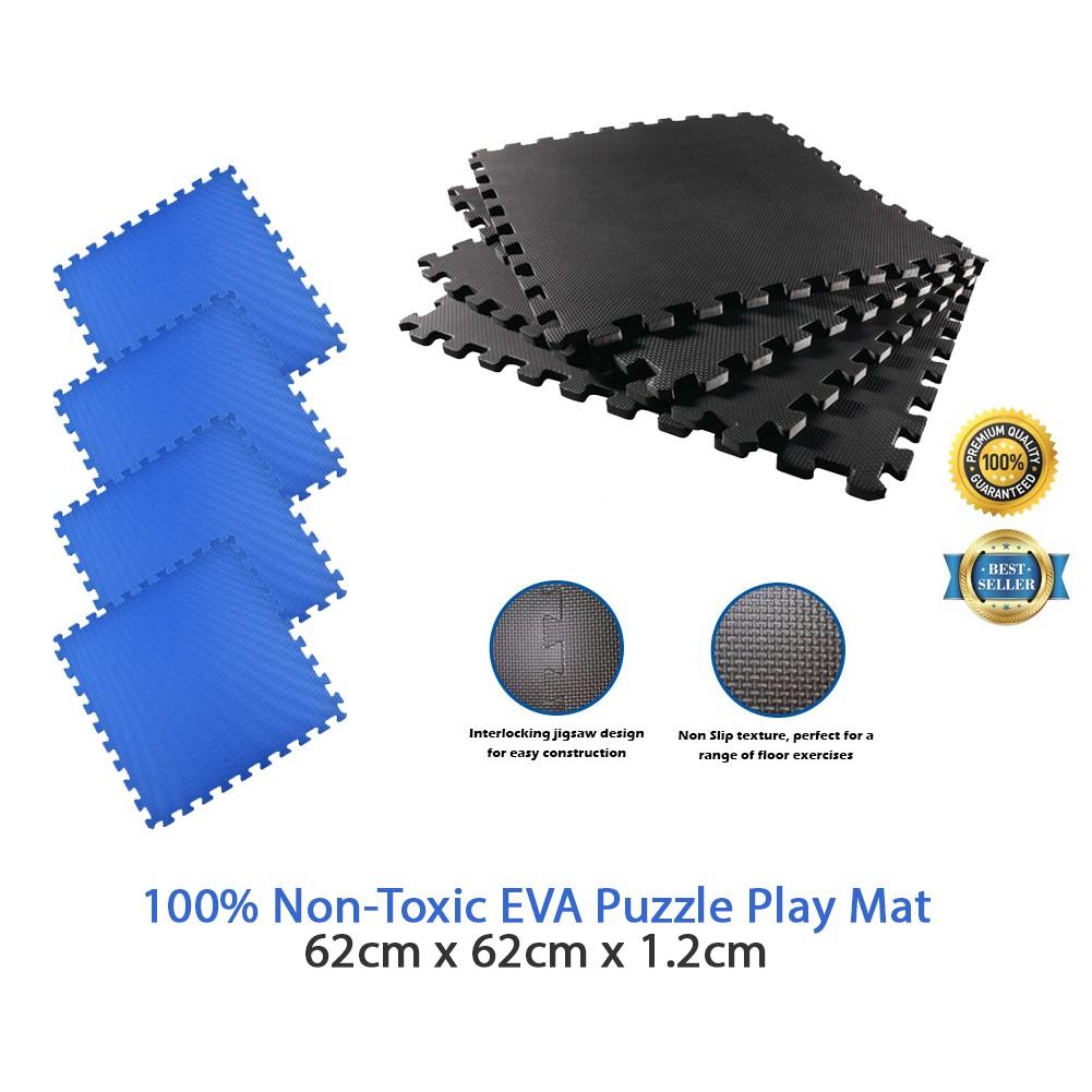 Thick Non-Slip Yoga Interlocking Eva Foam Floor Mats Gym Garage Workshop Puzzle