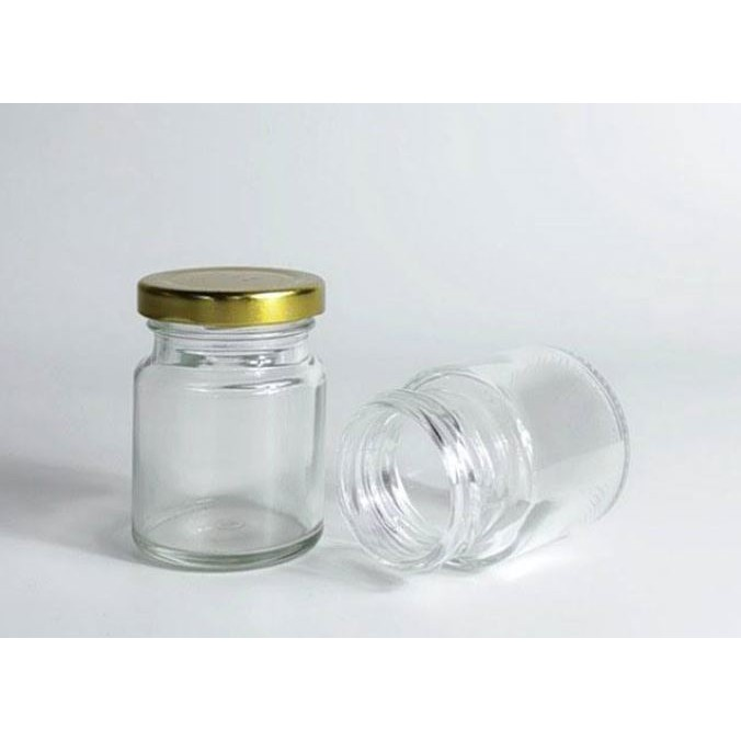 70ml Round Glass Jar Mini Bottle Air Tight Storage Container For Sweet Spices Door Gift | Botol Kaca Bulat | 圆形玻璃小罐子