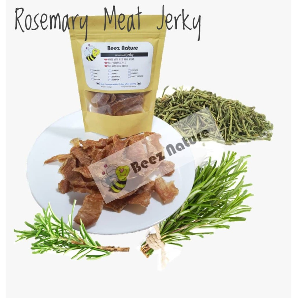 [NEW] Homemade Natural Jerky with ROSEMARY 80gm [Made to order]