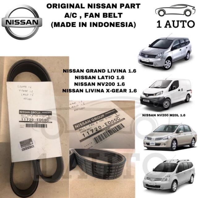 Original Nissan Part  Nissan Grand Livina Latio X Gear 1 6 Fan   Aux   Ac Belt