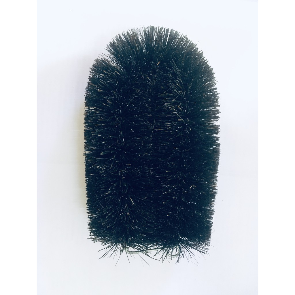 """Coconut Abalone Brush Natural Coconut Fibres Scrubbing Brush With Eyelet For Hanging Up 5.5"""" x 3"""""""