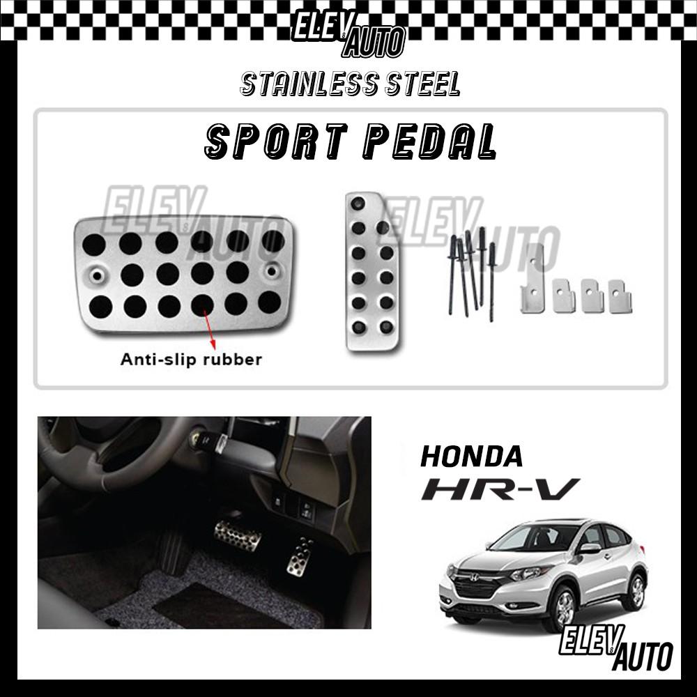 Honda HR-V HRV Stainless Steel Sport Pedal with Anti-slip Rubber