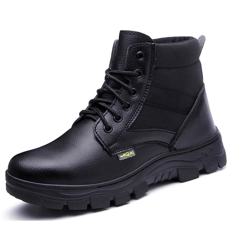 MENS LIGHTWEIGHT WATERPROOF COP POLICE SECURITY STEEL TOE CAP S3 SAFETY BOOTS SZ