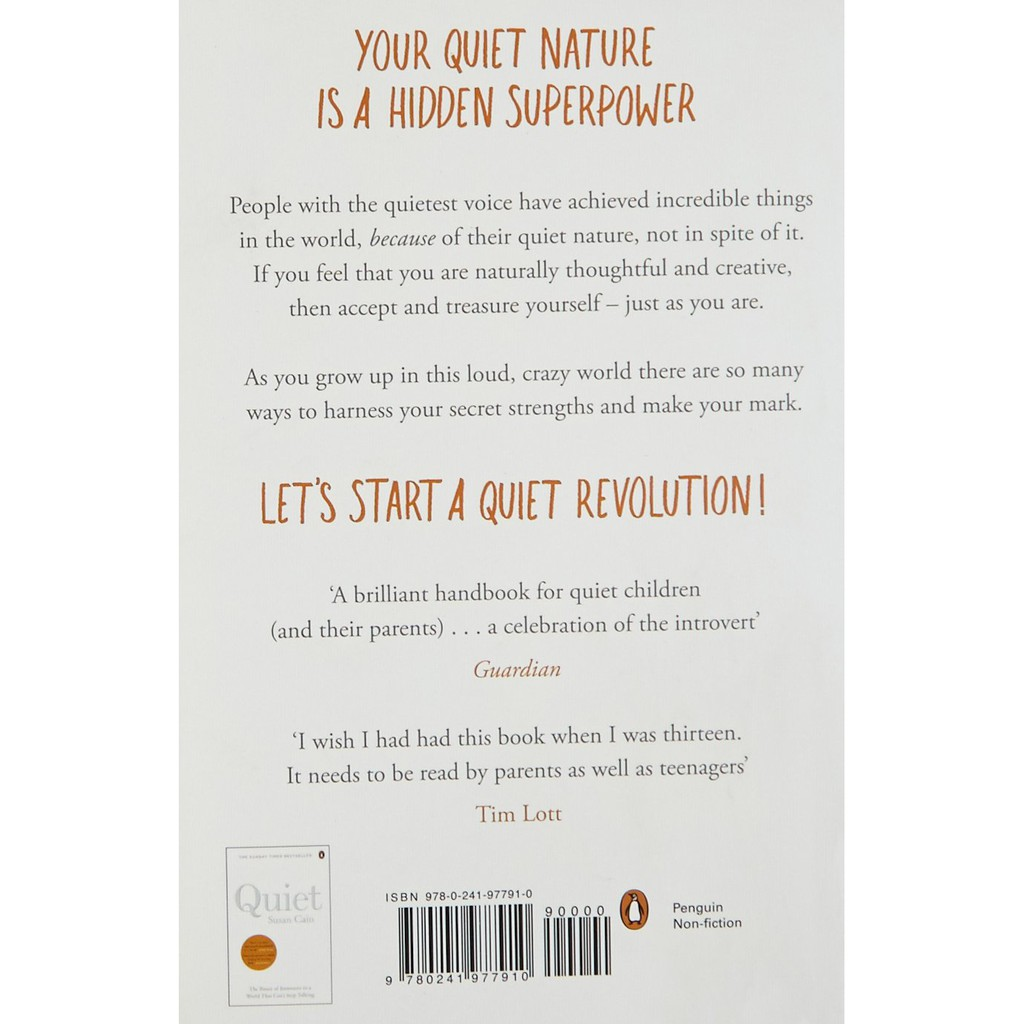 Quiet Power: Growing Up as an Introvert in a World That Can't Stop Talking , ISBN : 9780241977910