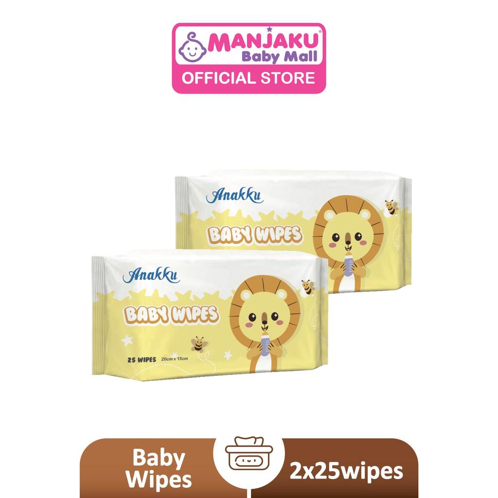 Anakku Natural Baby Wipes (2 x 25's) - Lavender