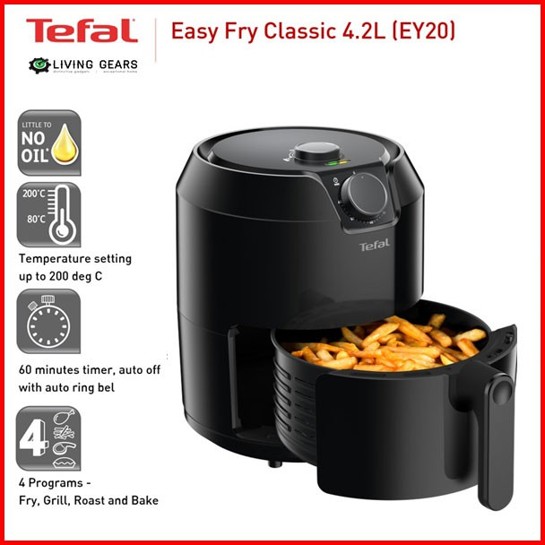 FAST SHIP] Tefal Air Fryer 4.2L / A&S 4.0L Turbo Easy Fry Classic Healthy  Fry, Grill, Roast and Bake XXL | Shopee Malaysia