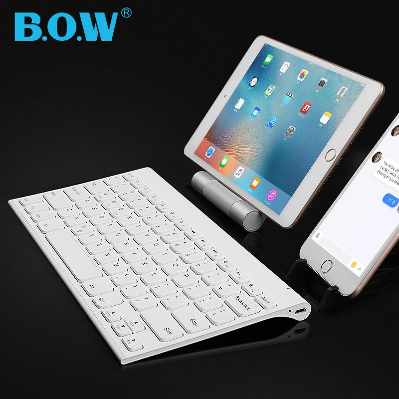 ✒♚♢Wireless Bluetooth keyboard Android phone Apple ipad