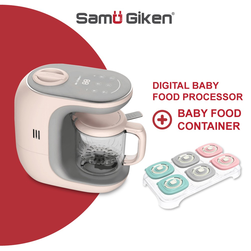 Samu Giken 5 In 1 Smart Digital Premium Baby Food Processor - Heating/Steam/Defrost/Blend, Model: BFP20P