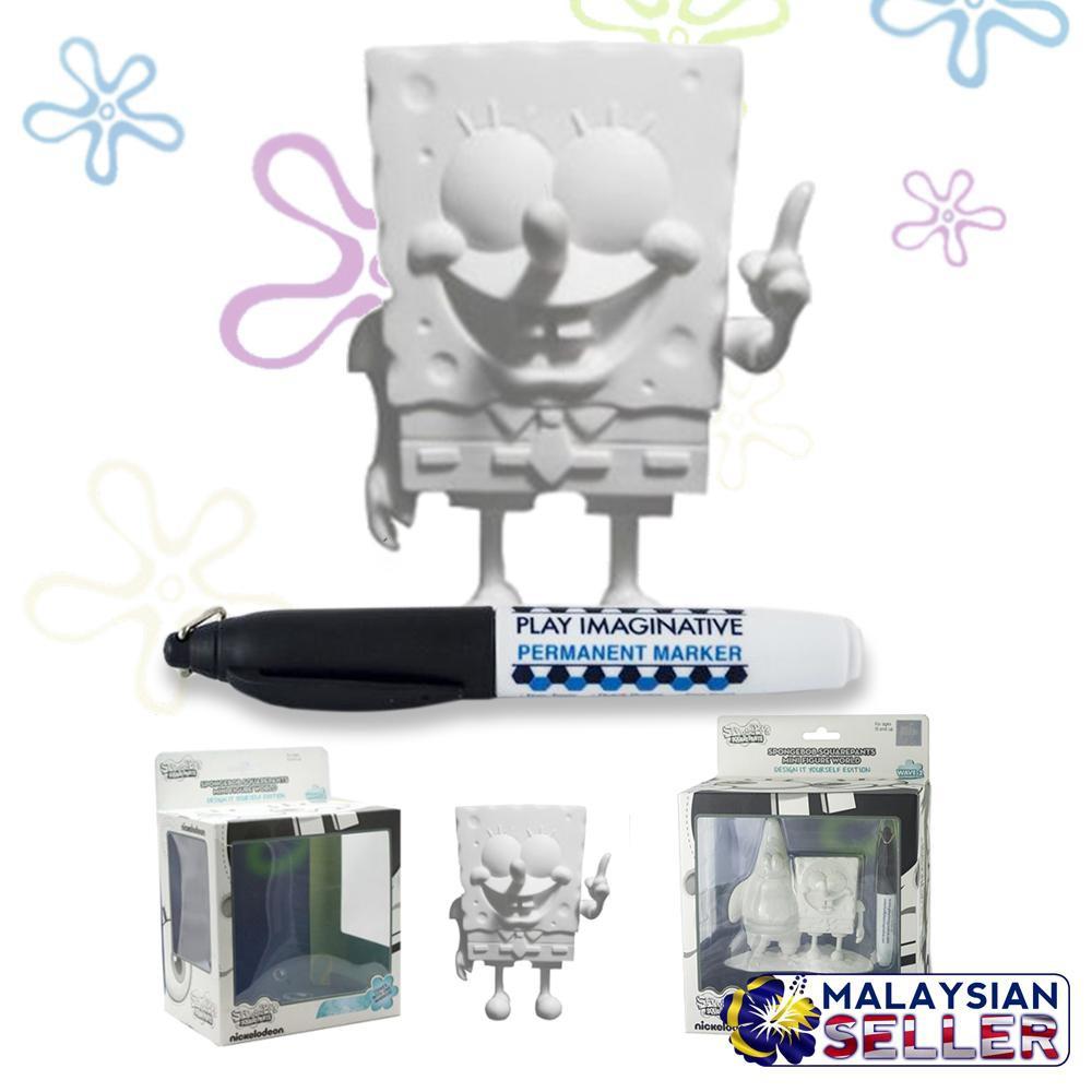 Design it Yourself DIY Spongebob Squarepants Mini Figure Toy White Figurine