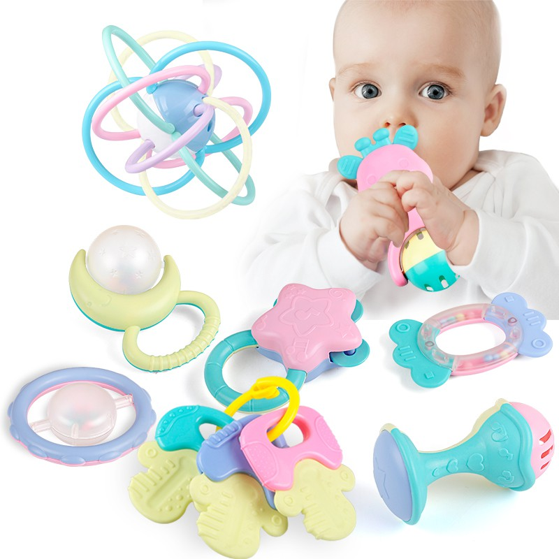 10Pack Newborn Teether Baby Toys Early Learning Education ...