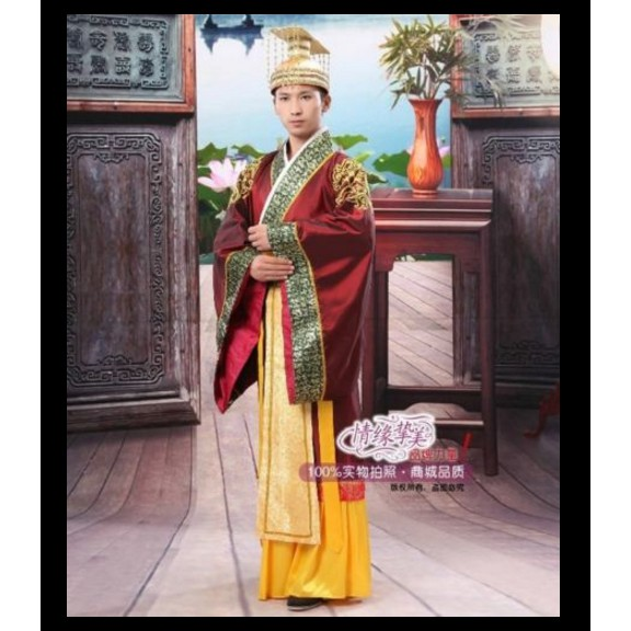 Man//Han Clothing Emperor Prince Minister Show Cosplay Suit Robe Costume Chinese