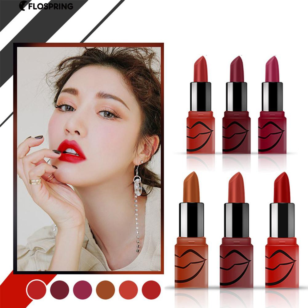 1/6Pcs Waterproof Lip Cream Lasting Matte Silky Lipsticks