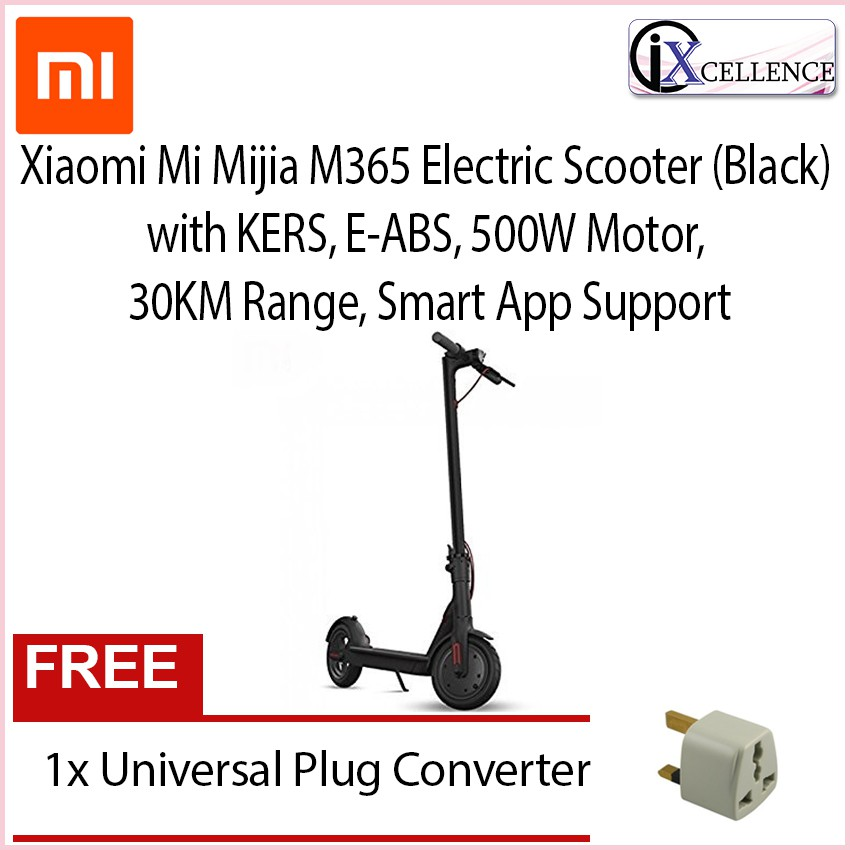 [IX] Xiaomi Mi Home Mijia M365 Electric Scooter with KERS, E-ABS, 500W  Motor, 30KM Range, Smart App Support
