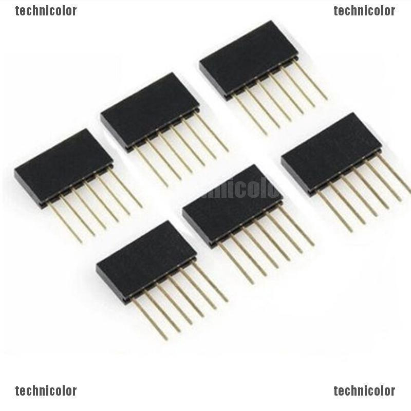 20pcs 4 Pin 2.54MM Female Stackable Header Connector Socket For Arduino Shiel Js
