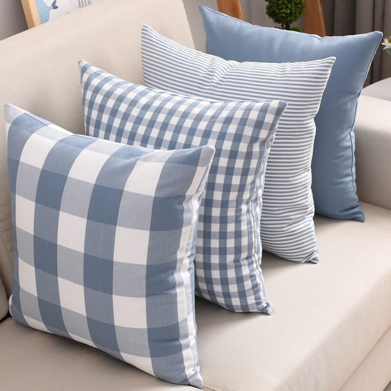 Nordic Plaid Cushion Cover Living Room Sofa Pillow Case ...