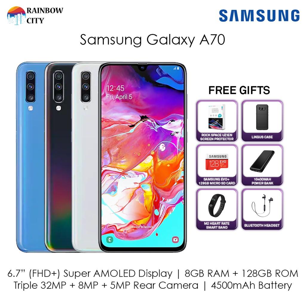 Samsung Galaxy A70 [8GB RAM / 128GB ROM] - Original Samsung Malaysia