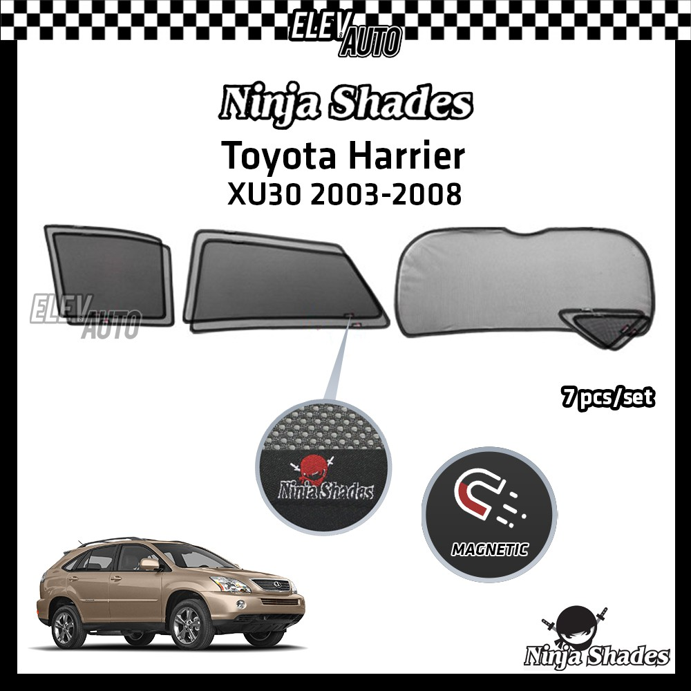 Toyota Harrier XU30 (2003-2008) Ninja Shades OEM Magnetic Sunshade