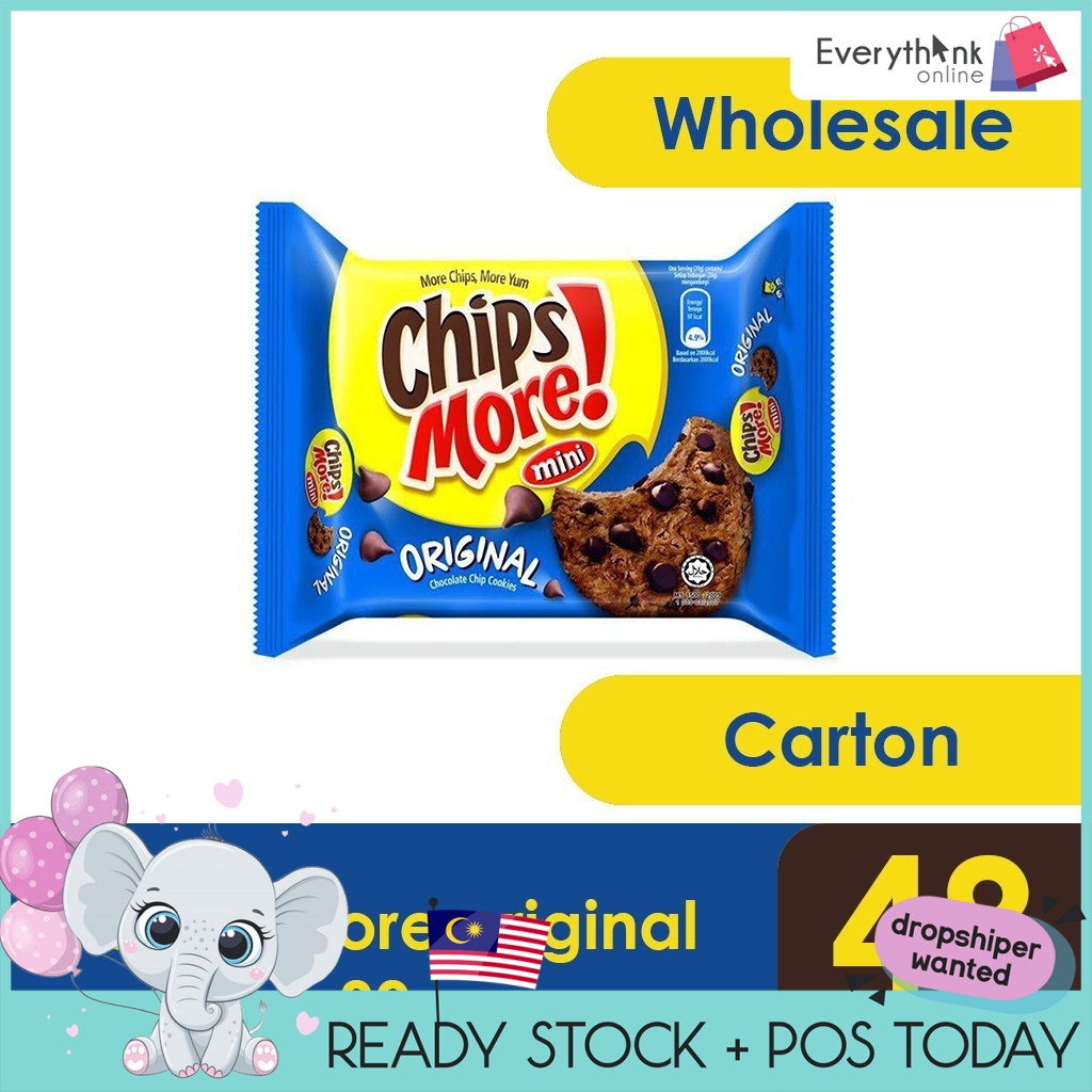 READY STOCK CHIPSMORE MINI ORIGINAL / DOUBLE CHOC 80GRAMS x 48PACKETS