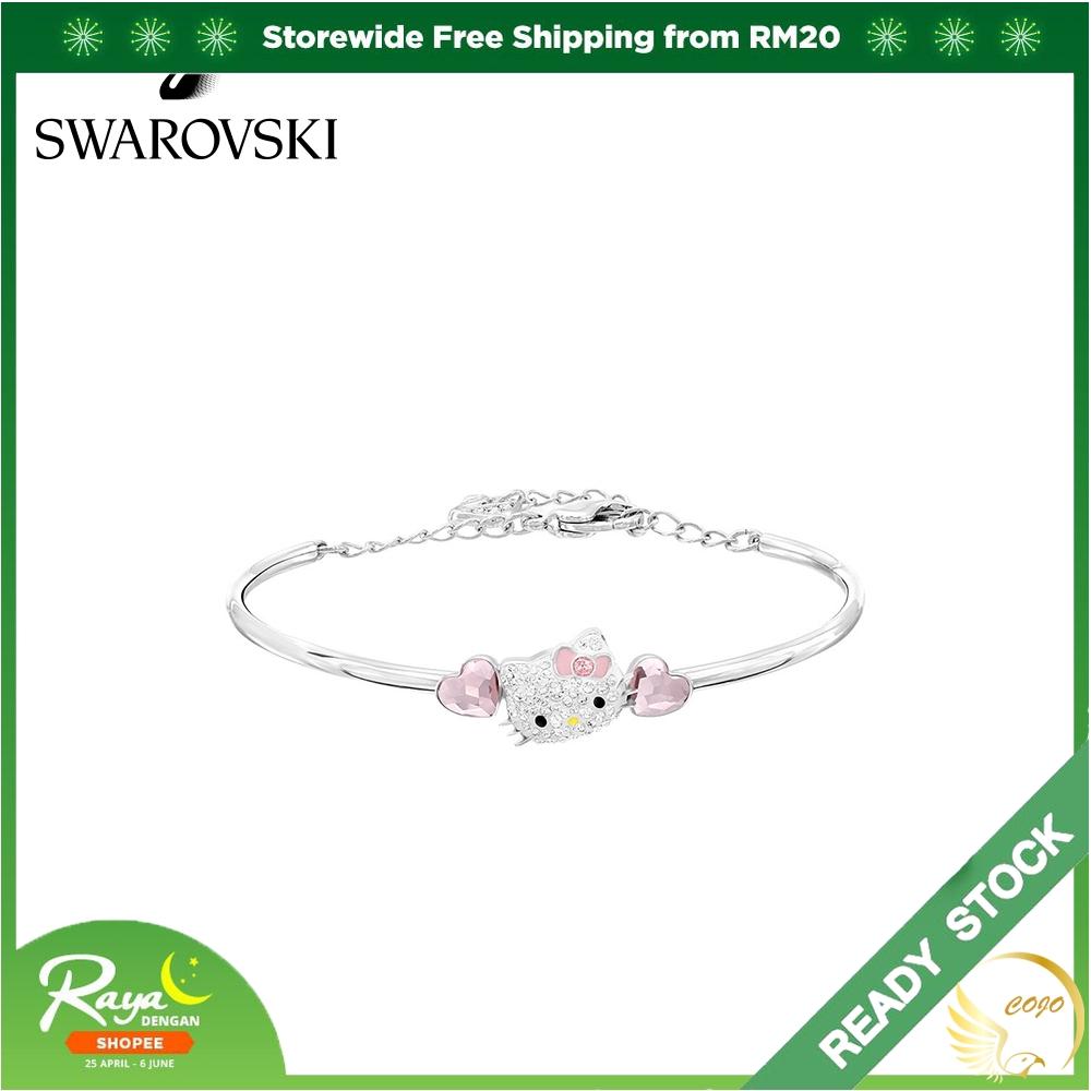 069c73e375571 Original Swarovski HELLO KITTY HEART Bracelet Women Personality Bracelet  Jewelry