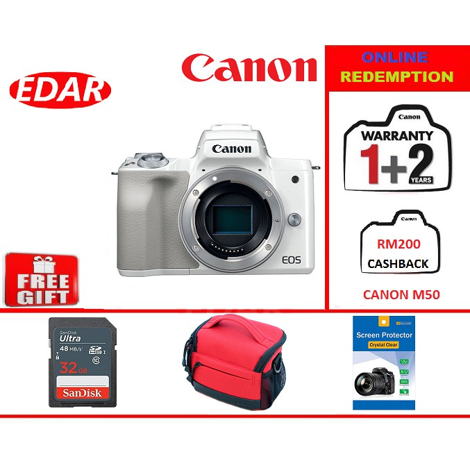 CANON EOS M50 BODY CAMERA ONLY