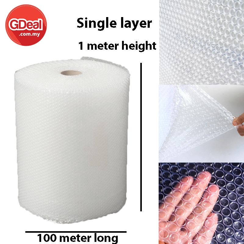 Single Layer Air Bubble Wrap Protection Packaging 100 Meter X 1 Meter
