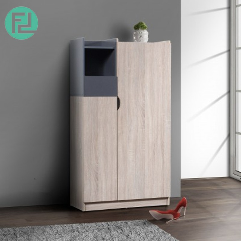 Furniture Direct HELSINKI 2 DOOR HIGH SHOE CABINET-OAK