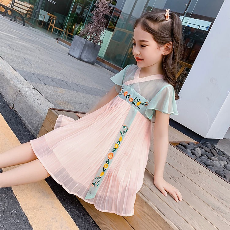 China Palaeowind China Palaeowind Female Spring And Summer Long Paragraph Embroidered Dress Lace Skirt White