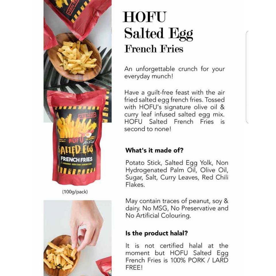 [Original] Hofu Salted Egg French Fries Packet 黄金咸蛋香脆薯条 (100g)