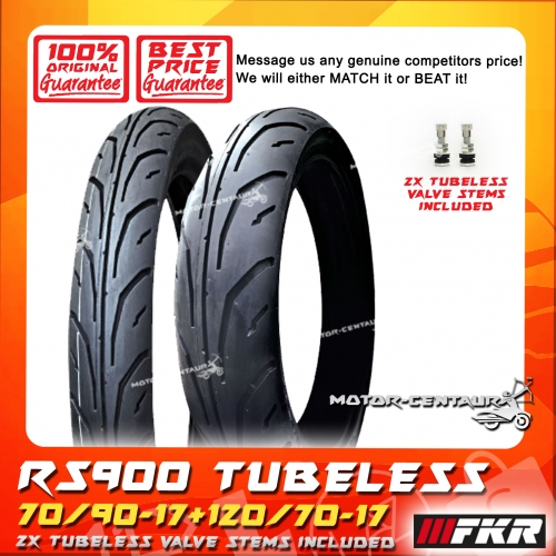 FKR TUBELESS TYRE RS900 70/90-17 + 120/70-17 FOR YAMAHA Y15ZR, BENELLI  RFS150I