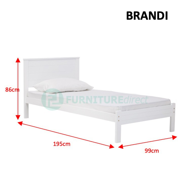 Furniture Direct Solid rubberwood single size pull out bed frame/ katil single/ katil kayu