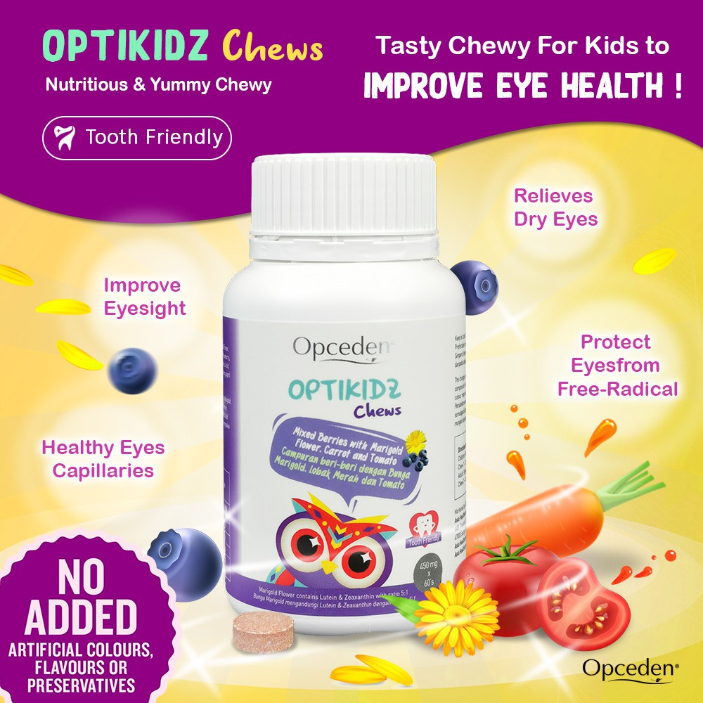 (Value Combo) 1 Box of Opceden Toco-Enols with 60 Softgels + 1 Box of Opceden Kids Optikidz with 60 Chewable Tablets